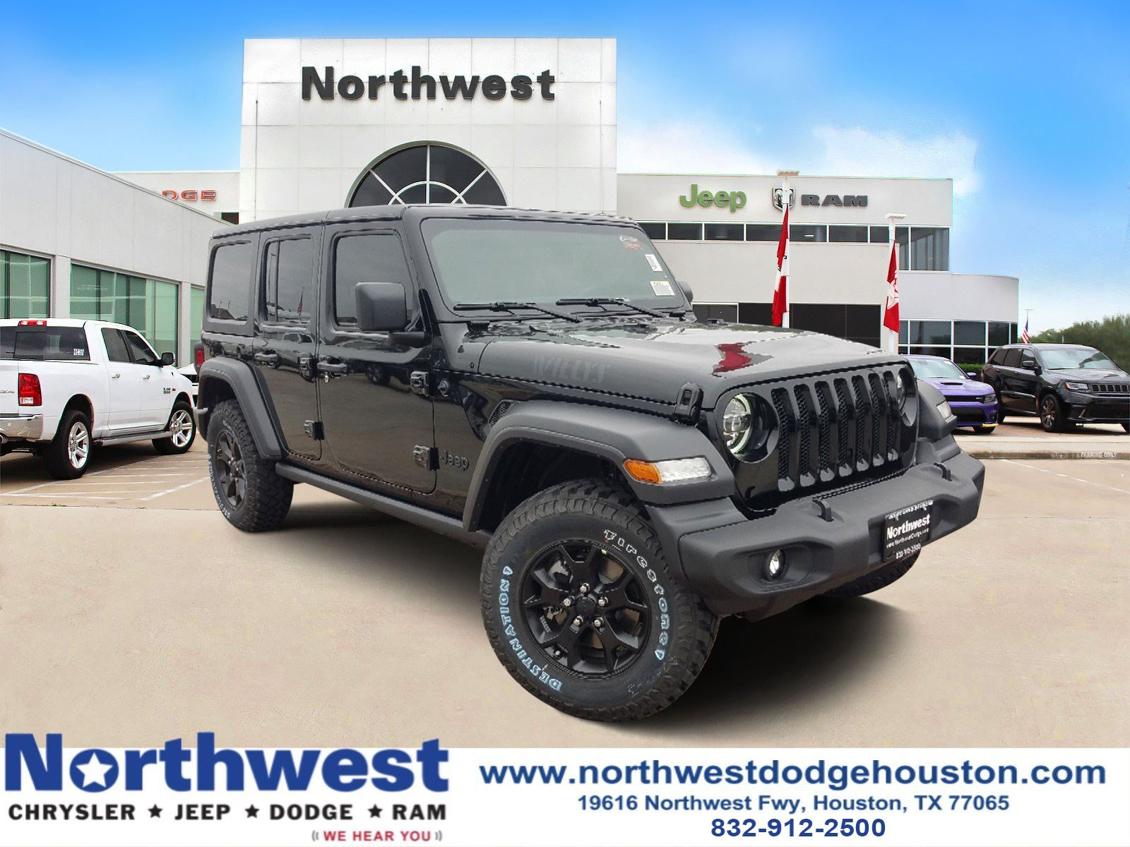 Northwest Chrysler Jeep Dodge >> New 2020 Jeep Wrangler Unlimited Willys 4x4