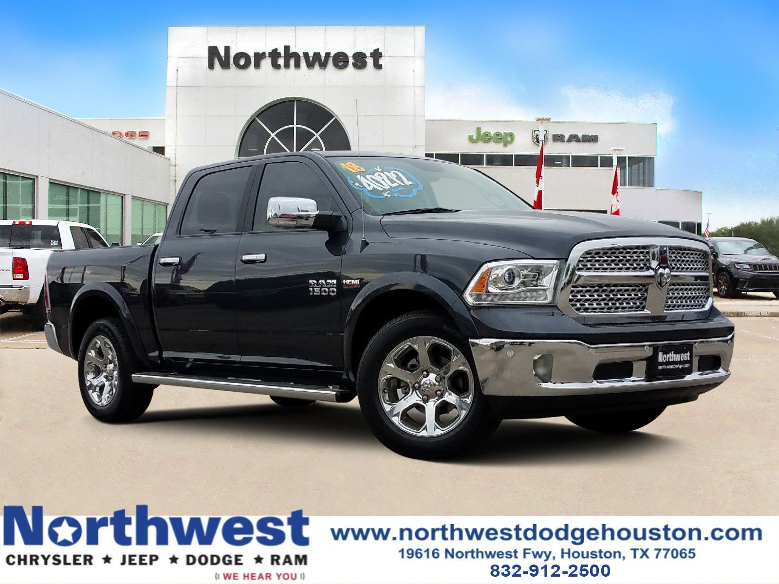 Pre Owned 2018 Ram 1500 Laramie Crew Cab Pickup In Houston Cl112156