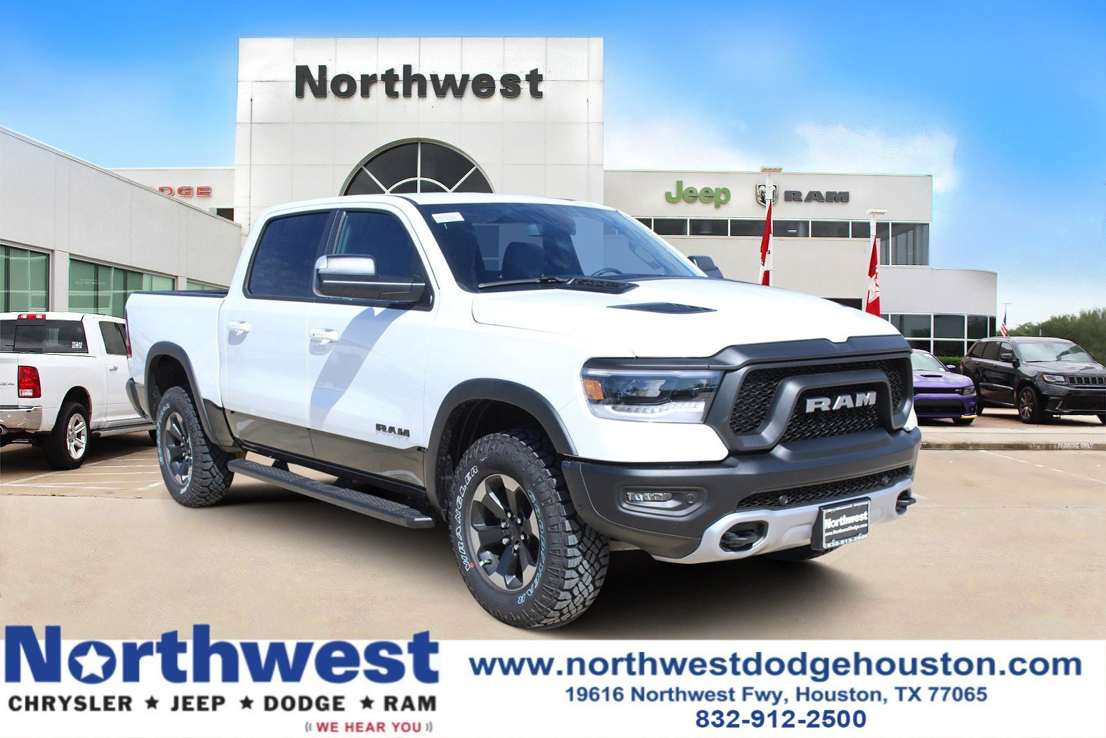 New 2019 Ram All New 1500 Rebel Crew Cab In Houston Kn657540
